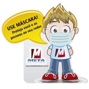 PLACA LIMPINHO - USO DE MASCARA